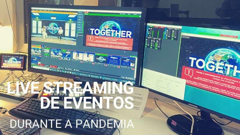 Bastidores da tecnologia de um evento de livestream